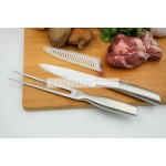 BBQ tool kits ceramic meat carving knife and steak fork set