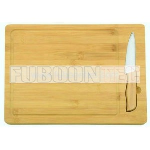 "FGS308 4"" Ceramic knife with bamboo cutting board"