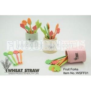 Wheat straw fruit fork WSFF01